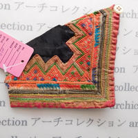 Hmong モン族 はぎれno.78  11x11 cm 刺繍布 古布 山岳民族 hilltribe ラオス タイ