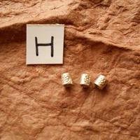 カレン族シルバー銀925NOH 3個1G W0.4H0.4D0.4CM穴0.3MM necklaceネックレス karen hilltribe