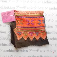 Hmong モン族 はぎれno.48  11x11 cm 刺繍布 古布 山岳民族 hilltribe ラオス タイ