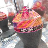 ウズベキスタン ウズベク族UZBEK WOMEN'S CAP28 刺繍女性用帽子49H10cm