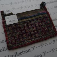 モン族の襟飾り no.20  14x10cm  Hmong embroidery needlework はぎれ ラオス タイ