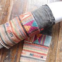 STORES アカ族 ソックス脚絆NO.9 上部口32x長さ26x下部口26cm タイ ミャンマー北部山地岳 民族衣装 本物 手仕事 刺繍