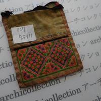 モン族の襟飾り no.27 9.5x11 cm  Hmong embroidery needlework はぎれ ラオス タイ