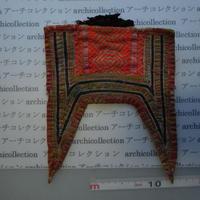モン族の胸襟飾りWING型 no.9  24x20 cm  Hmong embroidery needlework はぎれ ラオス タイ