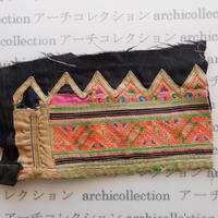 Hmong モン族 はぎれno.269  11.5x19 cm 刺繍布 古布 山岳民族 hilltribe ラオス タイ