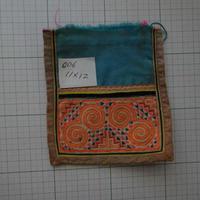 モン族の襟飾り no.6  11x12 cm  Hmong embroidery needlework はぎれ ラオス タイ