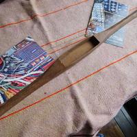 織り 織機 シャトル 杼 使用可 ストアーズno.2 60g  全長50巾3.1高2.2 内径長10巾2.8深1.8cm shuttle 木製 オールド