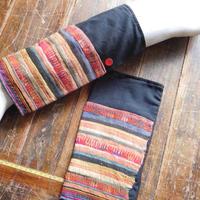STORES アカ族 ソックス脚絆NO. 4 上部口32x長さ30x下部口28cm タイ ミャンマー北部山地岳 民族衣装 本物 手仕事 刺繍