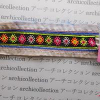 Hmong モン族 はぎれno.60  23x7 cm 刺繍布 古布 山岳民族 hilltribe ラオス タイ