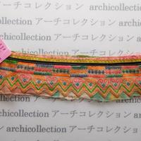 Hmong モン族 はぎれno.45  22x6 cm 刺繍布 古布 山岳民族 hilltribe ラオス タイ