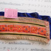 Hmong モン族 はぎれno.295  28x6 cm 刺繍布 古布 山岳民族 hilltribe ラオス タイ