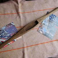 織り 織機 シャトル 杼 使用可 ストアーズno.12  100 g  全長47巾3.4高2.3 内径長8.4巾2.7深1.8cm shuttle 木製 オールド