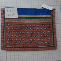 モン族の襟飾り no.13  14.5x11 cm  Hmong embroidery needlework はぎれ ラオス タイ