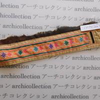 Hmong モン族 はぎれno.253  6x26 cm 刺繍布 古布 山岳民族 hilltribe ラオス タイ