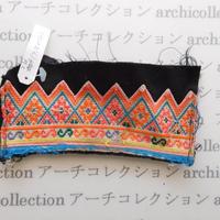 Hmong モン族 はぎれno.238  7.5x14 cm 刺繍布 古布 山岳民族 hilltribe ラオス タイ