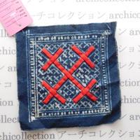 Hmong モン族 はぎれno.22  13x13 cm 刺繍布 古布 山岳民族 hilltribe ラオス タイ