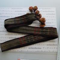ナガ族のベルト布 no.14L 192x5.5cm 綿 Naga tribe インド ミャンマー北部 India Nagaland ナガランド