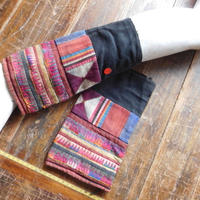 STORES アカ族 ソックス脚絆NO. 7 上部口29x長さ31x下部口28cm タイ ミャンマー北部山地岳 民族衣装 本物 手仕事 刺繍