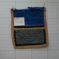 モン族の襟飾り no.5 11x12 cm  Hmong embroidery needlework はぎれ ラオス タイ