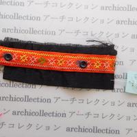 Hmong モン族 はぎれno.283  7x19 cm 刺繍布 古布 山岳民族 hilltribe ラオス タイ