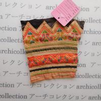 Hmong モン族 はぎれno.162  12x12 cm 刺繍布 古布 山岳民族 hilltribe ラオス タイ