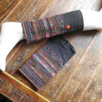 STORES アカ族 ソックス脚絆NO. 14 上部口30x長さ28x下部口28cm タイ ミャンマー北部山地岳 民族衣装 本物 手仕事 刺繍