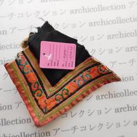 Hmong モン族 はぎれno.204  10x11 cm 刺繍布 古布 山岳民族 hilltribe ラオス タイ
