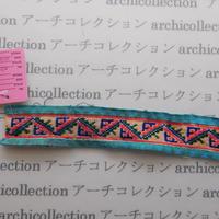 Hmong モン族 はぎれno.77  20x4 cm 刺繍布 古布 山岳民族 hilltribe ラオス タイ
