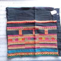 STORES アカ族 はぎれソックス脚絆NO. 1 29X25cm タイ ミャンマー北部山地岳 民族衣装 本物 手仕事 刺繍