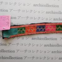 Hmong モン族 はぎれno.142  19x3 cm 刺繍布 古布 山岳民族 hilltribe ラオス タイ