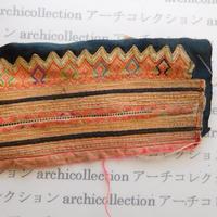 Hmong モン族 はぎれno.265  10.5x19 cm 刺繍布 古布 山岳民族 hilltribe ラオス タイ