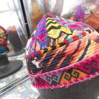 ウズベキスタン ウズベク族UZBEK WOMEN'S CAP21 刺繍女性用帽子54H12cm