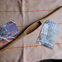 織り 織機 シャトル 杼 使用可 ストアーズno.22  60 g  全長43巾3.4高2.4 内径長9.8巾3深1.8cm shuttle 木製 オールド
