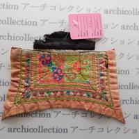 Hmong モン族 はぎれno.43  14x10 cm 刺繍布 古布 山岳民族 hilltribe ラオス タイ
