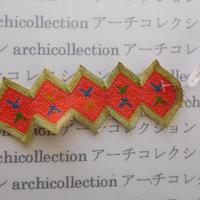 Hmong モン族 はぎれno.258  5x14 cm 刺繍布 古布 山岳民族 hilltribe ラオス タイ