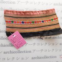 Hmong モン族 はぎれno.75  15x8 cm 刺繍布 古布 山岳民族 hilltribe ラオス タイ