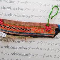 Hmong モン族 はぎれno.274  5x21 cm 刺繍布 古布 山岳民族 hilltribe ラオス タイ