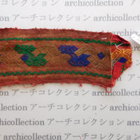 Hmong モン族 はぎれno.263  7x19 cm 刺繍布 古布 山岳民族 hilltribe ラオス タイ