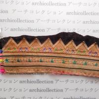 Hmong モン族 はぎれno.141  10x9 cm 刺繍布 古布 山岳民族 hilltribe ラオス タイ