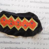 Hmong モン族 はぎれno.245  9x18 cm 刺繍布 古布 山岳民族 hilltribe ラオス タイ
