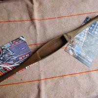 織り 織機 シャトル 杼 使用可 ストアーズno.11  60 g  全長42巾3.8高2.4 内径長9.6巾3.4深1.8cm shuttle 木製 オールド