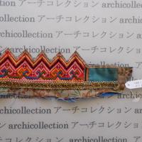 Hmong モン族 はぎれno.257  6.5x19 cm 刺繍布 古布 山岳民族 hilltribe ラオス タイ