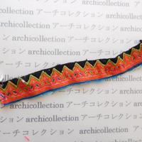 Hmong モン族 はぎれno.231  4x25 cm 刺繍布 古布 山岳民族 hilltribe ラオス タイ