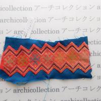 Hmong モン族 はぎれno.229  7.5x17 cm 刺繍布 古布 山岳民族 hilltribe ラオス タイ