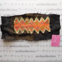 Hmong モン族 はぎれno.12  24x10 cm 刺繍布 古布 山岳民族 hilltribe ラオス タイ