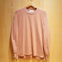 """FLISTFIA""""side slit L/S t-shirts""""(pale pink)unisex"""