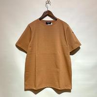 "Le Minor""solid short sleeve basque shirts""(marron clair)unisex"