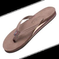 """RAINBOW SANDALS """"premier leather double mid sole""""(espresso)women's"""