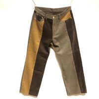 "TigreBrocante""mix corduroy 5pct pants""(brown)unisex"