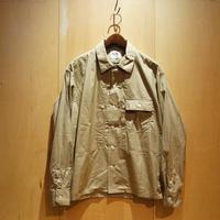 "H.UNIT ""broad cloth triple pocket L/S shirts"" (beige) unisex"